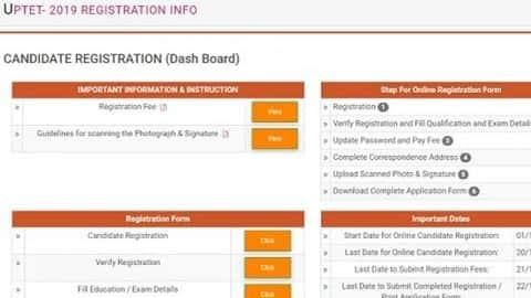 uptet 2019 registration
